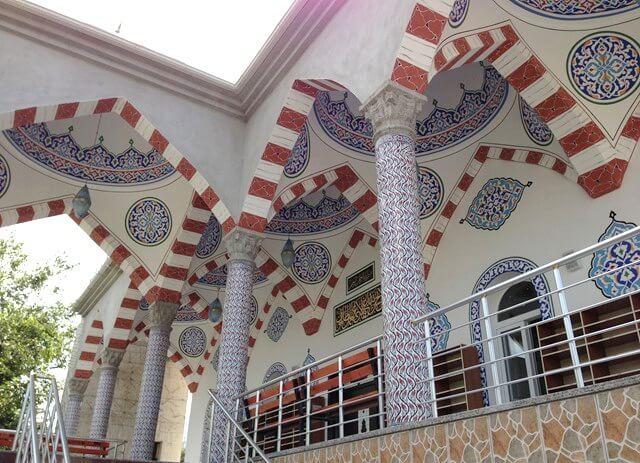 hatay dörtyol abacıoğlu camii duvar kolon nakışları