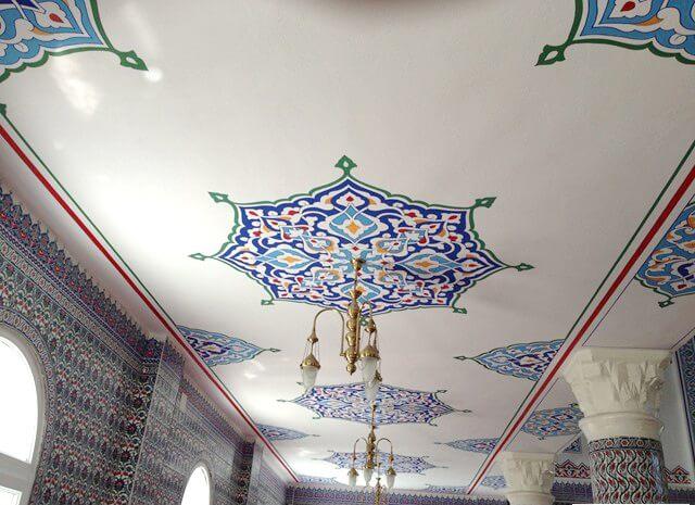 hatay dörtyol abacıoğlu camii tavan boyama